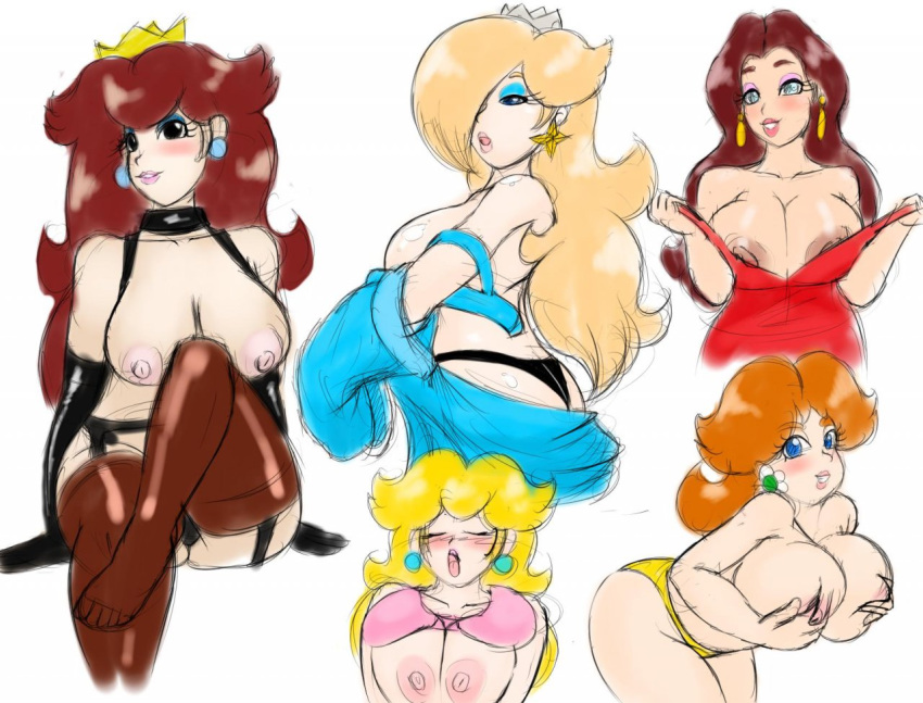 rosalina princess peach and and daisy Scourge of the evil 3d
