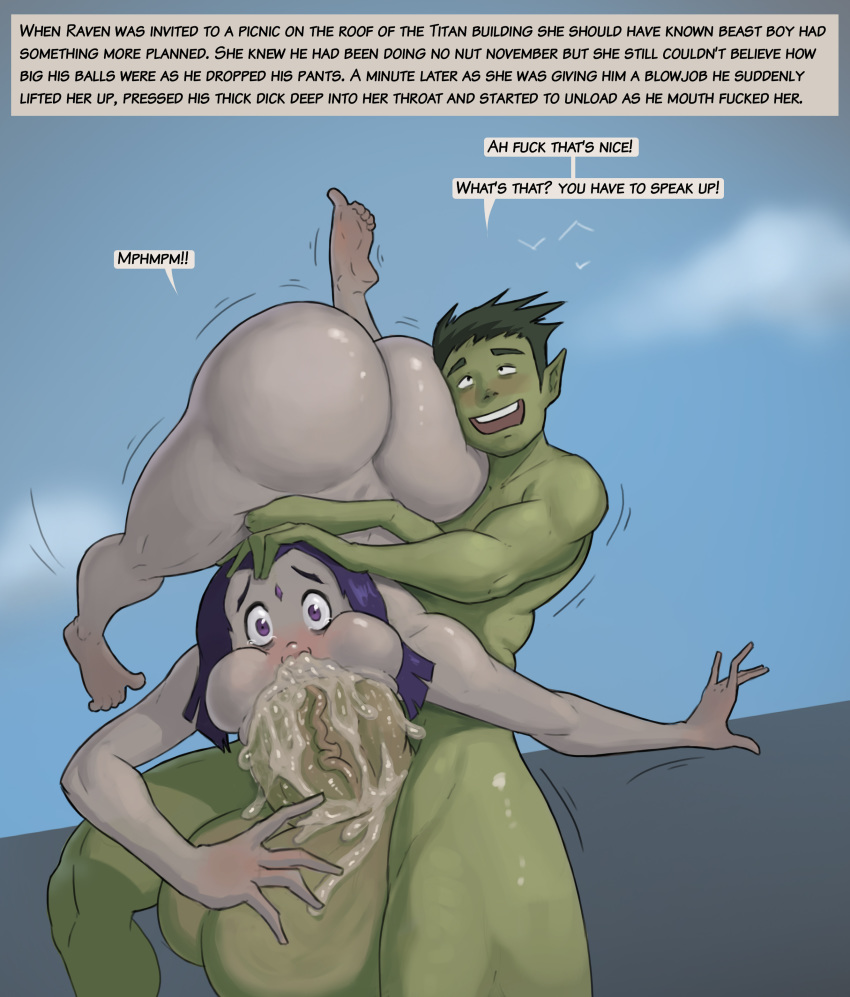 fanfiction raven and beast boy Man has anal sex with horse