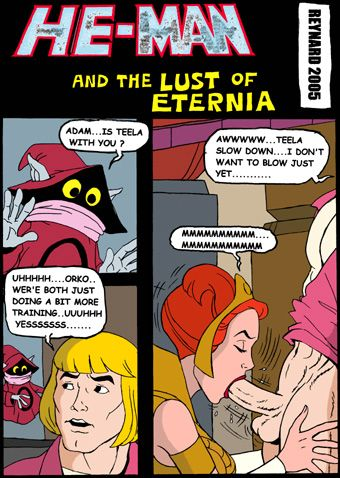 he-man Horse cock in her pussy