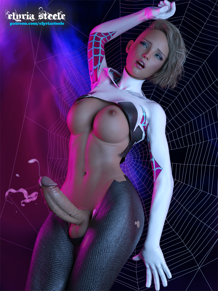 hair stacy verse spider gwen Marie kanker and double d